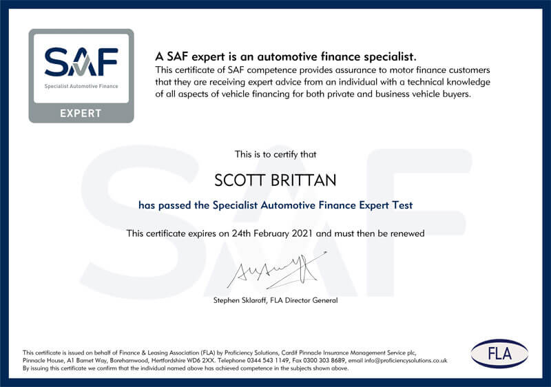 Specialist Automotive Finance Expert Test